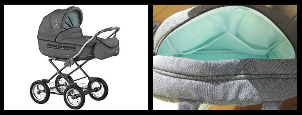 Kočárek Roan Marita Elegance kombinovaný sl-02 tmavě šedá + tyrkysová