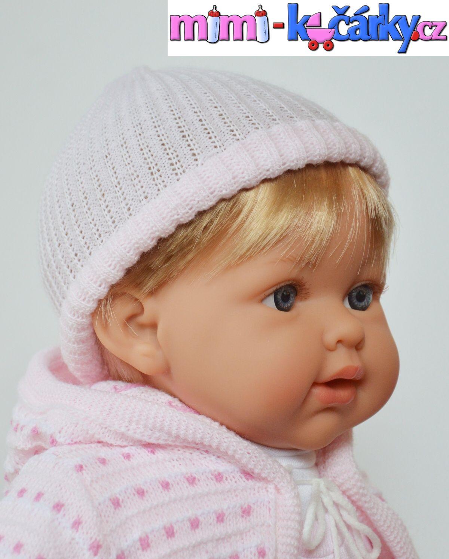 Mluvící realistická panenka Arias Eliana krátké vlasy 42 cm