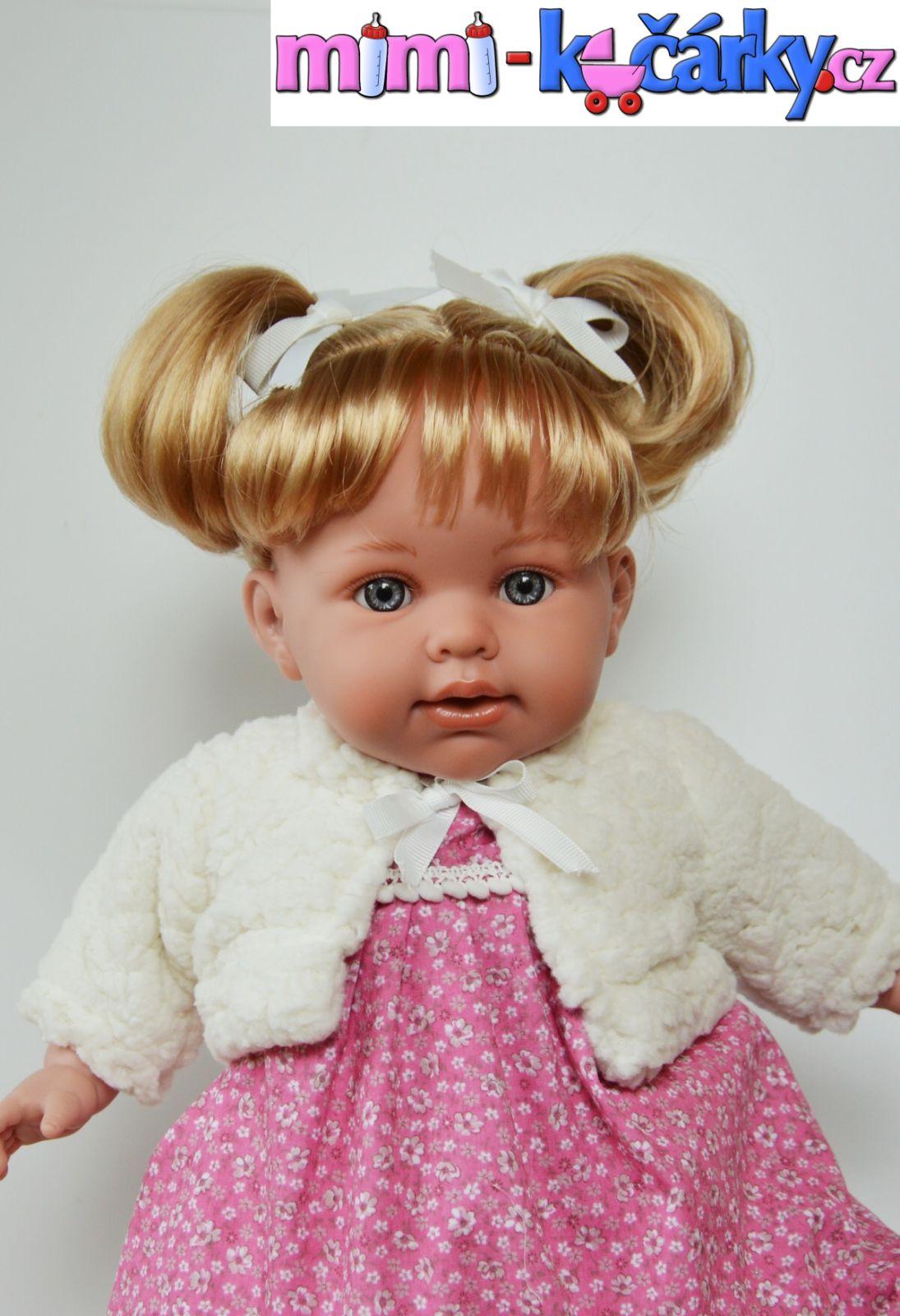 Reborn panenka Arias Eliana v bílém kabátku 42cm
