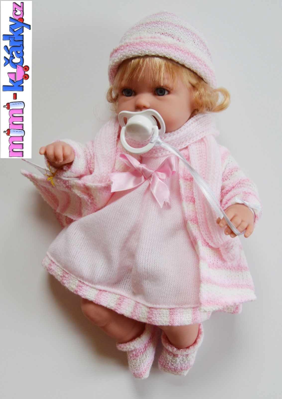 Mluvící panenka Arias Lisa růžová 33cm