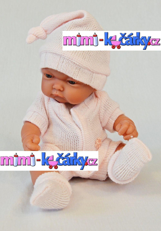 Realistické miminko Antonio Juan Pitus holčička s dečkou 26 cm