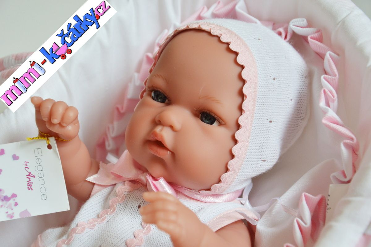 Reborn koupací miminko Arias Natalka s taškou 33cm