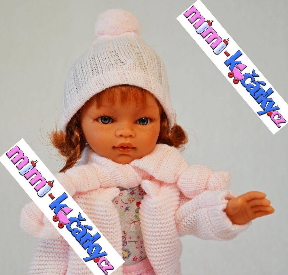 Reborn panenka Antonio Juan Emilia ve svetříku 33cm