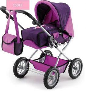 fialový kočárek pro panenky trojkombinace