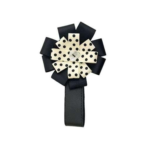 Designová magnetka na kočárek Cream dots