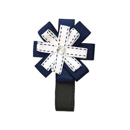 Designová magnetka na kočárek Navy/White