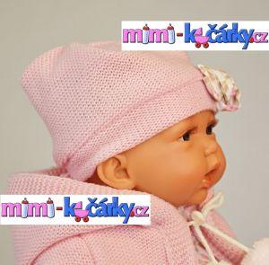 Mluvící realistická panenka Antonio Juan Petty 27 cm holčička v růžové svetříku