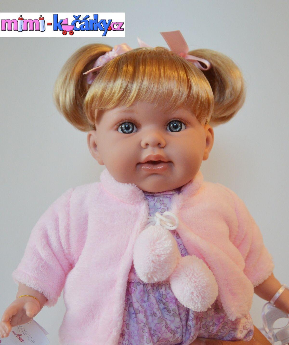 Mluvící panenka Arias Eliana v růžovém kabátku 42cm