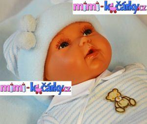 Mluvící panenka Antonio Juan Pekess chlapec 29 cm s polštářkem