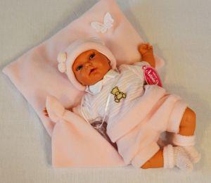 Mluvící panenka jako živá Antonio Juan Pekess holčička 29 cm
