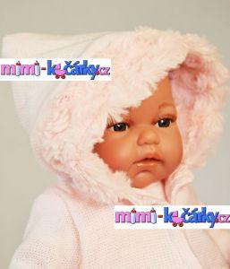 panenka jako živá Antonio Juan Toneta 34 cm holčička v kapuci