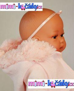 Mluvící panenka jako živá Antonio Juan Toneta 34 cm holčička v kapuci
