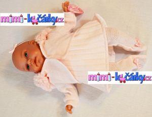 Španělská panenka jako živá Antonio Juan Toneta 34 cm holčička v kapuci det.