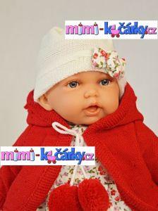 realistická panenka Antonio Juan Petty 27 cm v červeném svetříku