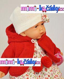 malá panenka Antonio Juan Petty 27 cm v červeném svetříku