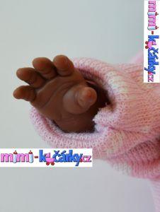 černoška panenka reborn Alice ručka