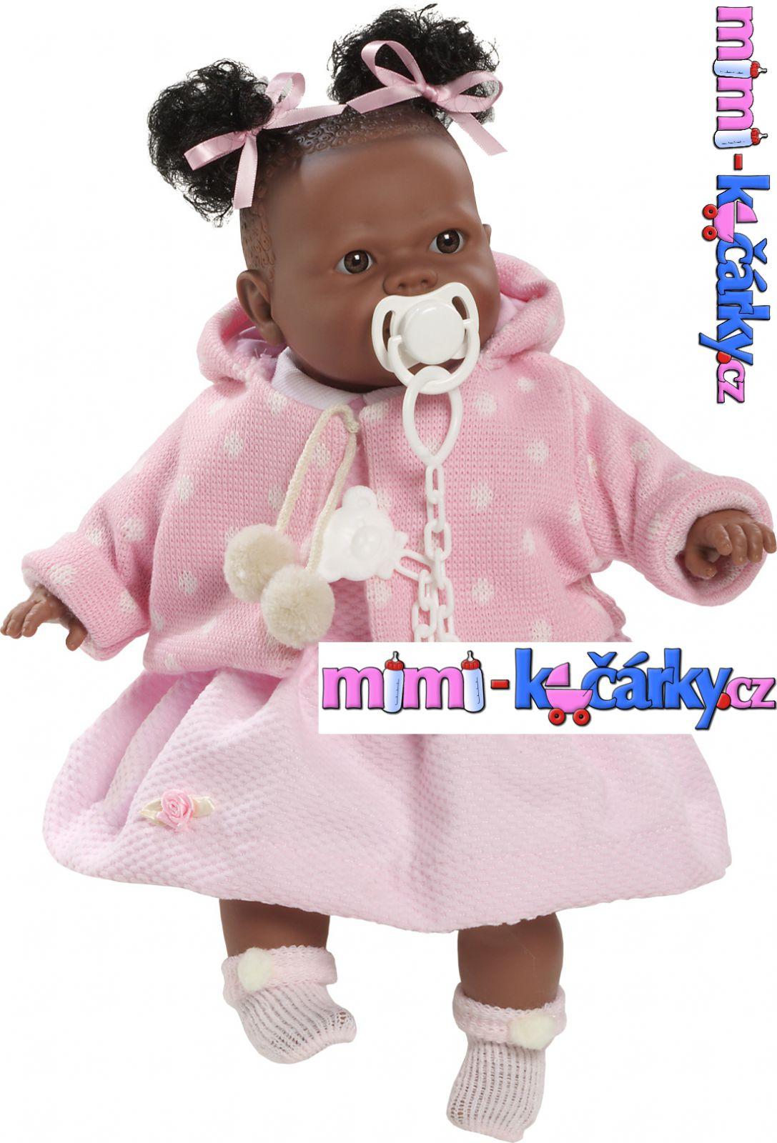 Mluvící realistická panenka černoška Berbesa Alice 42cm