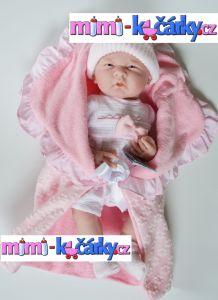 Panenka miminko Berenguer baby s výbavičkou 39 cm