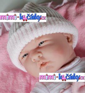 Panenka miminko Berenguer holčička s výbavičkou 39 cm det.