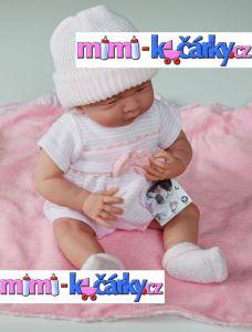 Panenka miminko Berenguer holčička s výbavičkou 39 cm