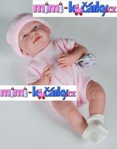 miminko jako živé Berenguer děvče 38 cm ve fleecovém kompletu