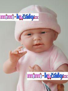pěkná panenka jako živá Berenguer děvče 38 cm ve fleecovém kompletu