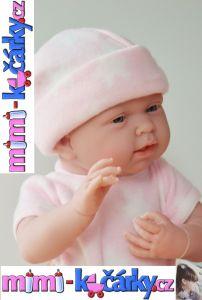 španělská panenka jako živá Berenguer děvče 38 cm ve fleecovém kompletu