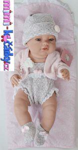 Španělská panenka Berbesa Angels s šedou čepičkou 42 cm