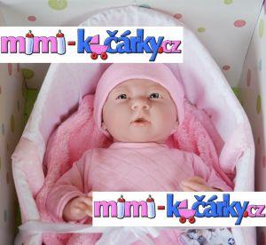 Realistická panenka miminko Berenguer holčička 39 cm v tašce