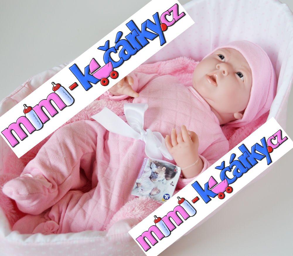 panenka miminko Berenguer holčička 39 cm v tašce
