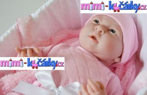 Luxusní realistická panenka miminko Berenguer holčička 39 cm v tašce