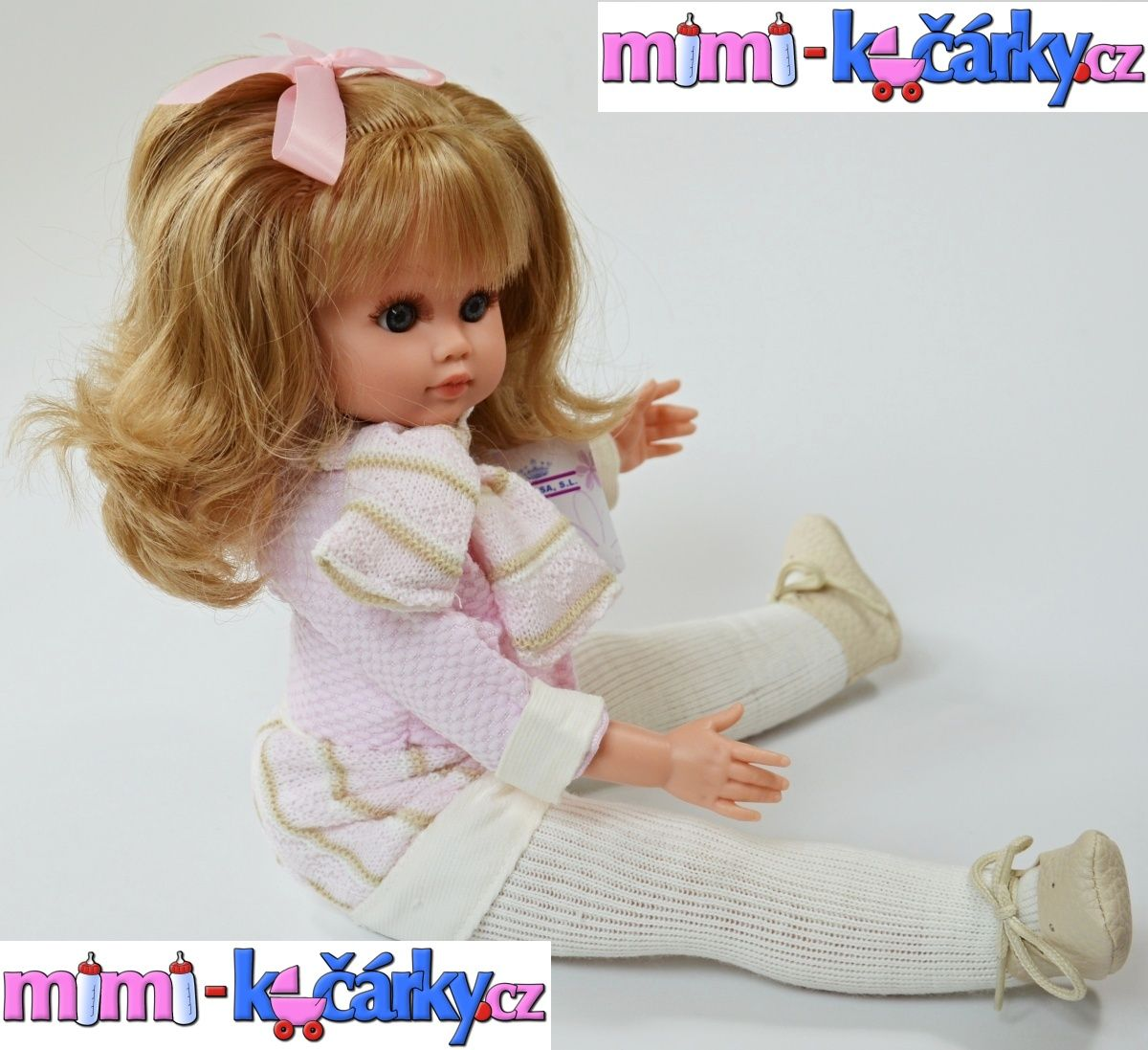 Realistická panenka s blond vlásky Fanny