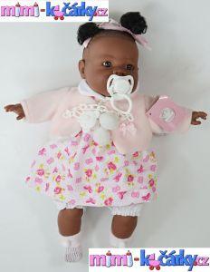 Mluvící panenka černoška Alice 42 cm d