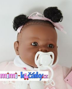 Mluvící panenka černoška Alice 42 cm c