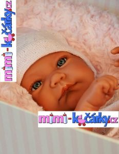 Reborn miminko Antonio Juan Nika holčička s polštářem 42 cm
