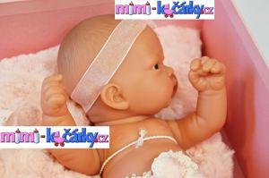 Reborn miminko Antonio Juan Pitus holčička s polštářem