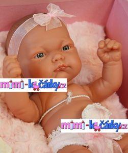 Realistické miminko Antonio Juan Pitus holčička s polštářem