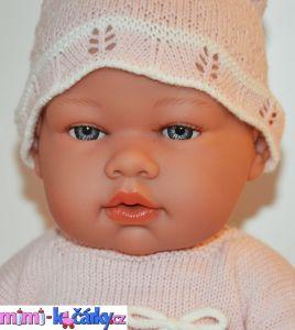 Realistické miminko - panenka Arias v šatičkách 42cm