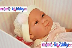Realistická panenka Antonio Juan Olivie holčička 42 cm det.