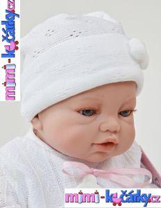 Realistická panenka Angels bílé oblečení 42 cm