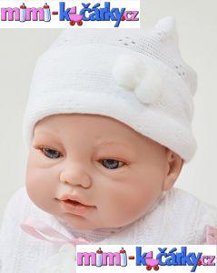 Španělská panenka Angels bílé oblečení 42 cm 2