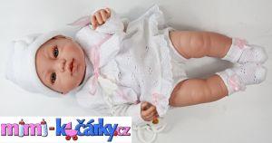 Španělská panenka Angels bílé oblečení 42 cm 3