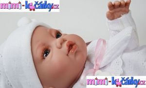 Španělská panenka Angels bílé oblečení 42 cm 4