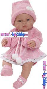 Realistické miminko Berbesa Angels v oblečku 42cm