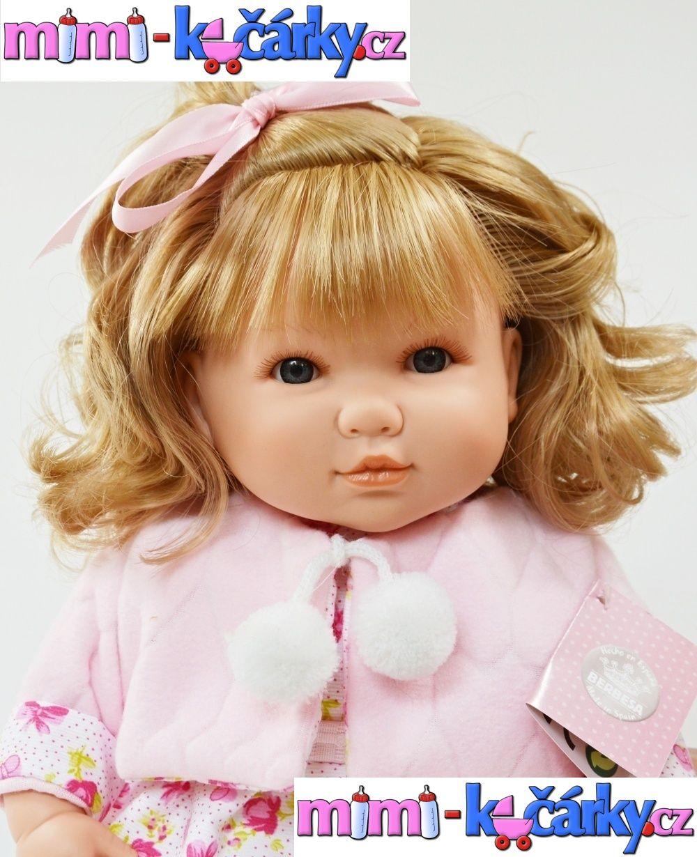 Vinylová mluvící panenka Berbesa Sandra barevné šaty
