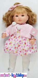 Vinylová panenka Berbesa Sandra barevné šaty