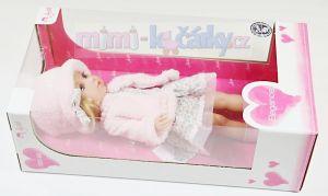 Česací panenka s vlasy Arias Charlota v růžovém kloboučku box