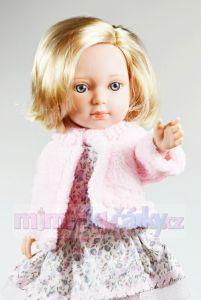 Panenka s dlouhými vlásky Arias Charlota v růžovém