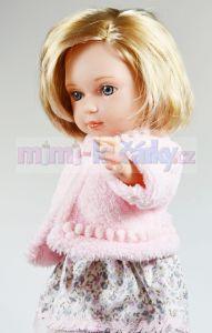 Česací panenka s vlasy Arias Charlota v růžovém kloboučku