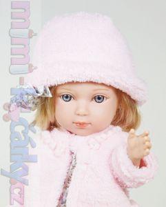 panenka s vlasy Arias Charlota v růžovém kloboučku